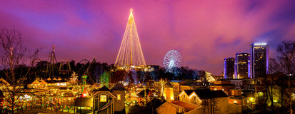 Panorama de Liseberg Photographie stock