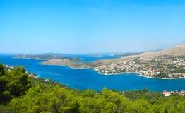 Panorama de littoral Image libre de droits