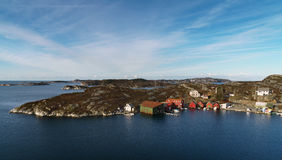 Panorama de littoral d'île d'Askoy en Norvège photo stock