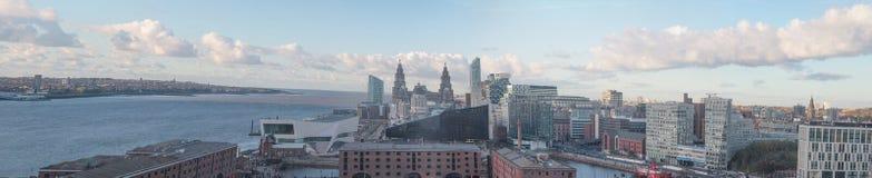 Panorama de Liverpool Fotos de archivo