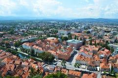 Panorama de Ljubljana Fotos de archivo libres de regalías