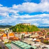 Panorama de Ljubljana, Eslovênia, Europa Fotografia de Stock Royalty Free