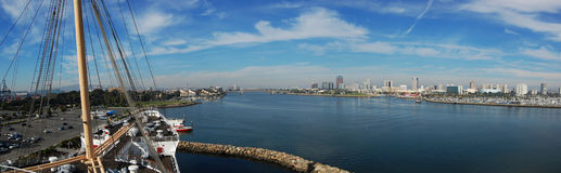 Panorama de Long Beach Foto de Stock Royalty Free