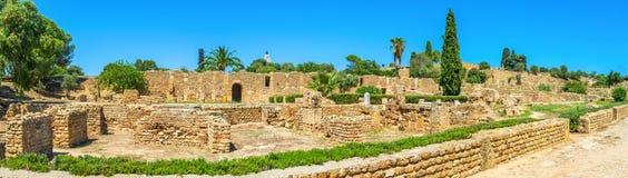 Panorama de los chalets romanos Fotos de archivo