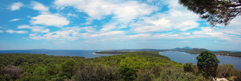 Panorama de Losinj Images libres de droits