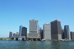 Panorama de Lower Manhattan Images libres de droits