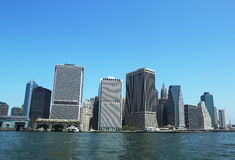 Panorama de Lower Manhattan Image libre de droits