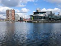 Panorama de Lowry, cais de Salford, Manchester Fotos de Stock Royalty Free