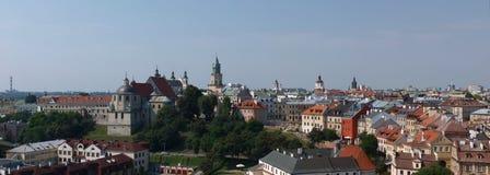 Panorama de Lublin, Polonia Imagenes de archivo