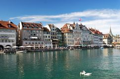 Panorama de Lucerna Imagenes de archivo