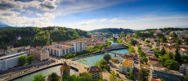 Panorama de Lucerna, Suiza, visión superior Imagen de archivo libre de regalías