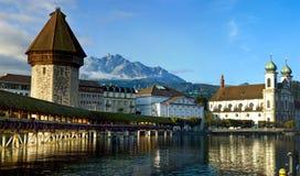 Panorama de Lucerne Image libre de droits