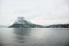 Panorama de Lugano, Suiza Imágenes de archivo libres de regalías