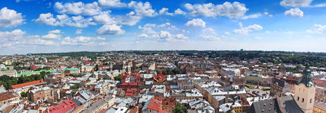 Panorama de Lviv, Ucrânia Fotos de Stock Royalty Free
