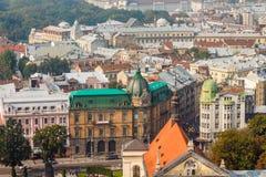 Panorama de Lviv, Ukraine de la vieille ville images libres de droits