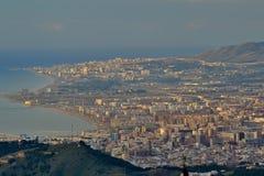 Panorama de Málaga fotografía de archivo