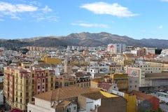 Panorama de Málaga foto de archivo libre de regalías