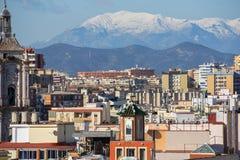 Panorama de Málaga Fotos de archivo