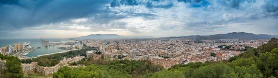 Panorama de Málaga, España meridional Fotografía de archivo