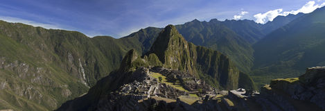 Panorama de Machu Picchu Fotos de Stock Royalty Free