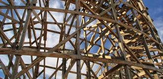 Panorama de madera de la montaña rusa en California, los E.E.U.U. imagen de archivo libre de regalías