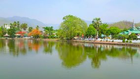 Panorama de Mae Hong Son, Tailândia vídeos de arquivo