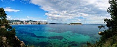 Panorama de Magaluf en el resorte, España foto de archivo libre de regalías