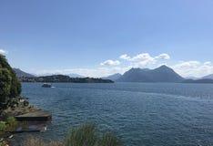 Panorama de Maggiore del lago Imágenes de archivo libres de regalías