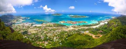 Panorama de Mahe Island Photographie stock libre de droits