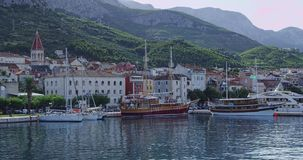 Panorama de Makarska Foto de archivo libre de regalías