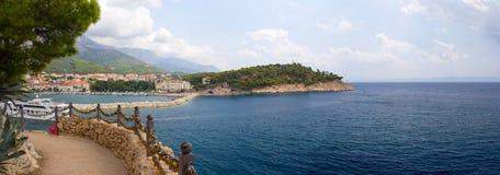 Panorama de Makarska Riviera Fotografia de Stock Royalty Free