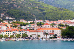 Panorama de Makarska Riviera Fotografia de Stock