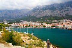 Panorama de Makarska Riviera Foto de Stock