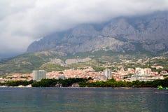 Panorama de Makarska Riviera Foto de Stock Royalty Free