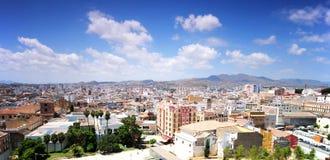 Panorama de Malaga, Andalousie, Espagne Photographie stock