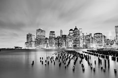 Panorama de Manhattan Photo stock