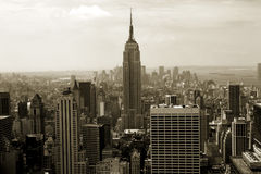 Panorama de Manhattan Photo stock