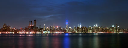 Panorama de Manhattan Photographie stock