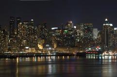 Panorama de Manhattan fotografía de archivo libre de regalías