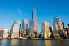 Panorama de manhattan Fotografia de Stock Royalty Free