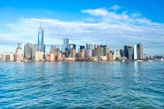Panorama de Manhattan imagenes de archivo