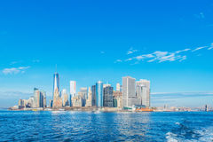 Panorama de Manhattan Images libres de droits