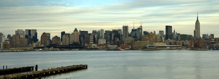 Panorama de Manhattan Photographie stock libre de droits