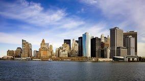 Panorama de Manhattan Imagens de Stock Royalty Free