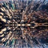 Panorama de Manhattan en NYC Fotografía de archivo
