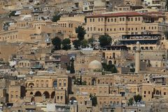 Panorama de Mardin foto de archivo