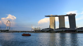 Panorama de Marina Bay, Singapour Images libres de droits