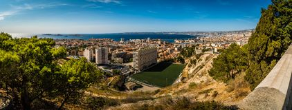 Panorama de Marseille Photographie stock