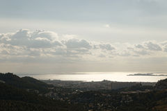 Panorama de Marseille Photographie stock libre de droits