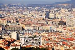 Panorama de Marsella Foto de archivo libre de regalías